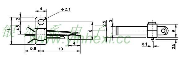 厂家直销高品质高寿命质优价廉叶片开关 芯片开关kfx-006